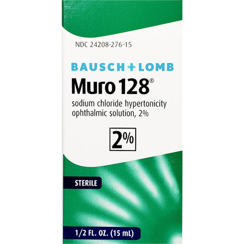 Muro 128, Sodium Chloride Ophthalmic Solution 2%,by Bausch & Lomb 1/2 fl oz