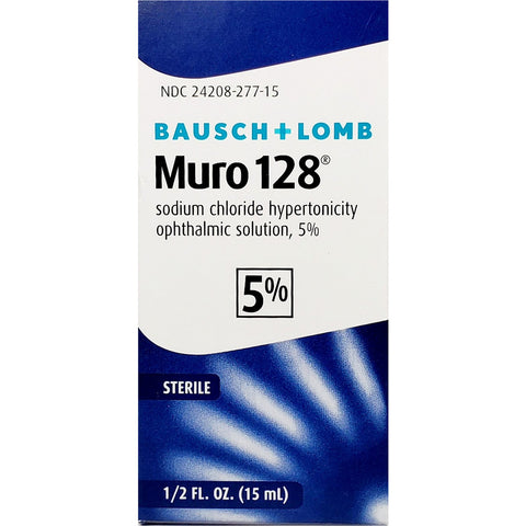 Bausch & Lomb Muro 128 Sodium Chloride Ophthalmic Solution 5%, 1/2 fl oz