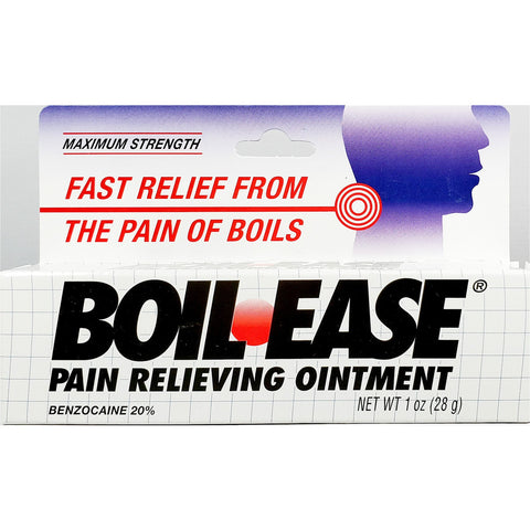 Boil Ease Pain Relieving Ointment, Benzocaine 20% 1 oz
