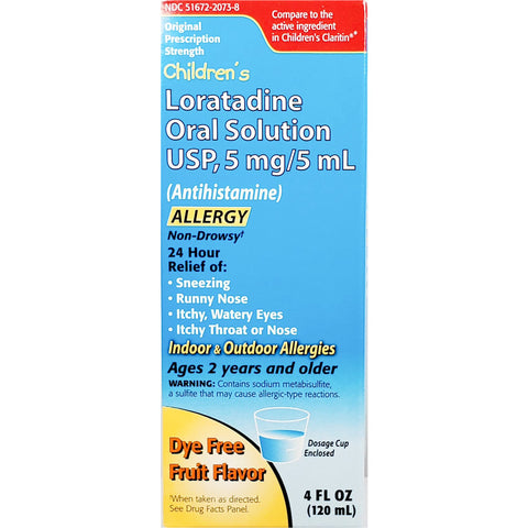 Children's Loratadine Oral Solution, 5 mg (Compare to Children's Claritin) 4 fl oz