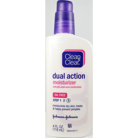 Clean & Clear Dual Action Moisturizer, 4 fl oz