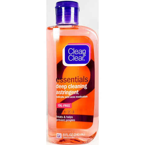 Clean & Clear Essentials Deep Cleaning Astringent, 8 fl oz