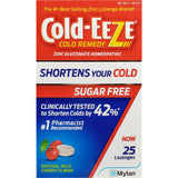 Cold-Eeze with Zinc, (Sugar Free) Natural Wild Cherry Flavor, (Immune Support) 25 Lozenges