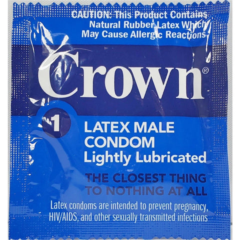 Crown Lightly Lubricated Latex Condoms (50 Or 100 Count) 50 Count Mens Locker