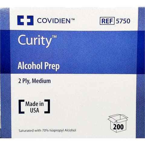 Curity Alcohol Prep Pads, 200 count