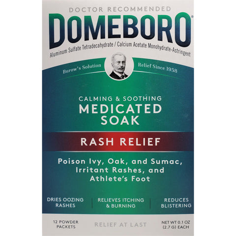 Domeboro Medicated Soak (Rash Relief), 12 Powder Packets