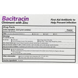 First Aid Antibiotic, Bacitracin Ointment w/ Zinc, 1 oz