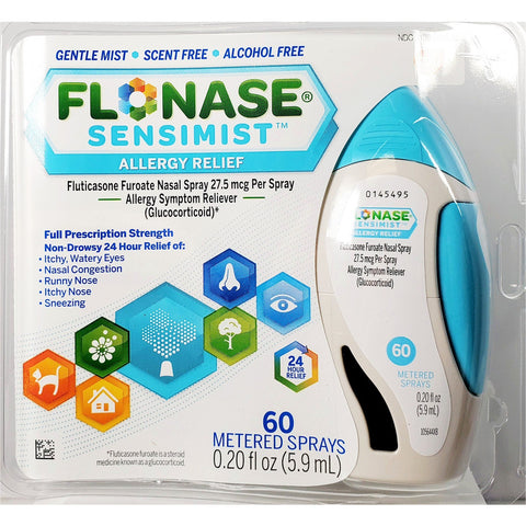 Flonase Sensimist Allergy Relief, 27.5 mcg per spray 60 Metered Sprays