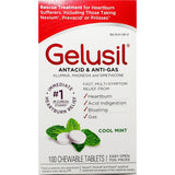 Gelusil Antacid / Anti-Gas (Cool Mint Flavor), 100 Chewable Tablets