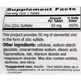 GeriCare Zinc Sulfate, 50 mg (Immune Support) 100 Tablets