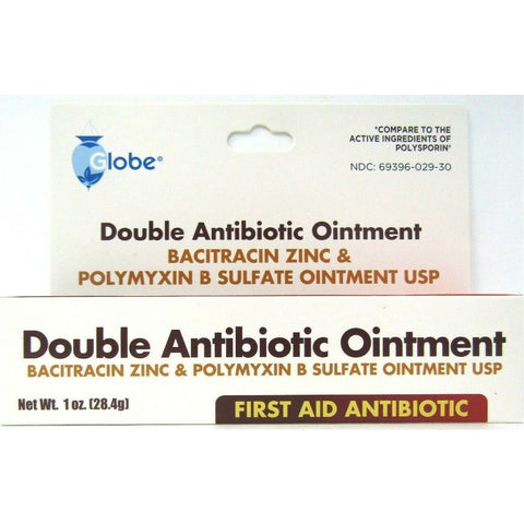 Globe Double Antibiotic Ointment (Compare To Polysporin) 1 Oz Each (1 3 Or 10 Pack) Pack First Aid