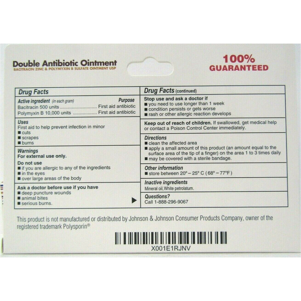 Globe Double Antibiotic Ointment (Compare to Polysporin) 1 oz (1, 3 or 10  Pack)