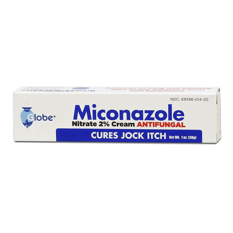 Globe Miconazole Nitrate 2% Antifungal Cream, 1 oz each (1 or 3 Pack)