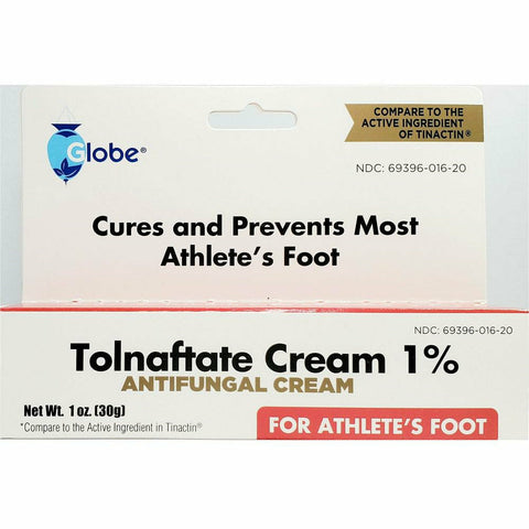 Globe Tolnaftate Cream 1% (Compare To Tinactin) 1 Oz Each (1 Or 3 Pack) Pack Foot Care