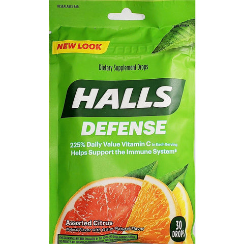 Halls Defense Throat Drops (Immunity Support)