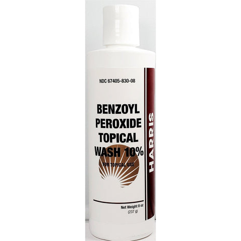Harris Benzoyl Peroxide 10% Topical Wash 8 Oz (1 Pack) Skin Care