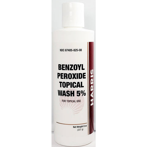Harris Benzoyl Peroxide 5% Topical Wash 8 Oz - Exp 9/2020