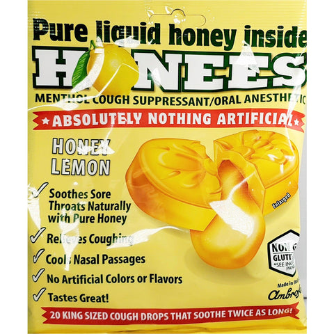 Honees Cough Drops, 20 Count (1 Bag)