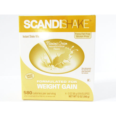 Scandishake Banana Cream Flavor 3 Oz 4 Each ( 1 Pack) Nutrition