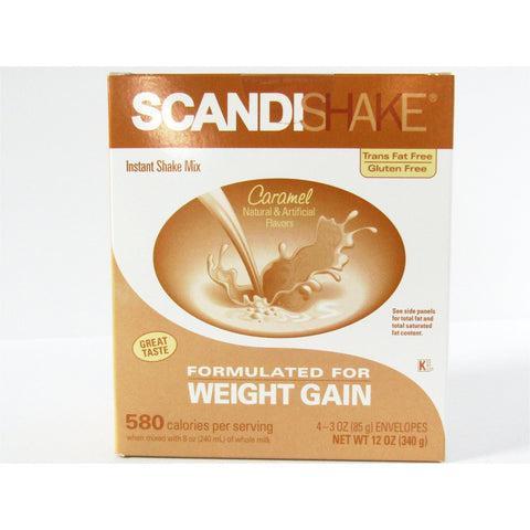Scandishake Caramel Flavor 3 Oz 4 Each (1 Pack) Nutrition