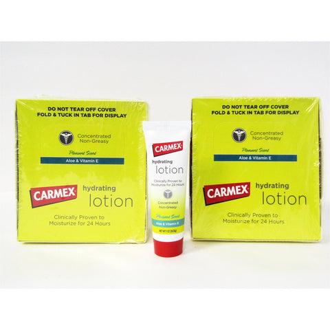 Carmex Hydrating Lotion With Aloe & Vitamin E 1 Oz Each (24 Pack) Skin Care