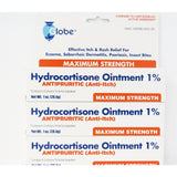 Globe Hydrocortisone Ointment 1% (Compare To Cortizone 10) (1 Or 3 Pack) Pack