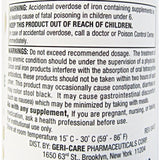Gericare Ferrous Gluconate (Iron Supplement) 240 Mg 100 Tablets Each (1 Or 3 Pack) Supplement