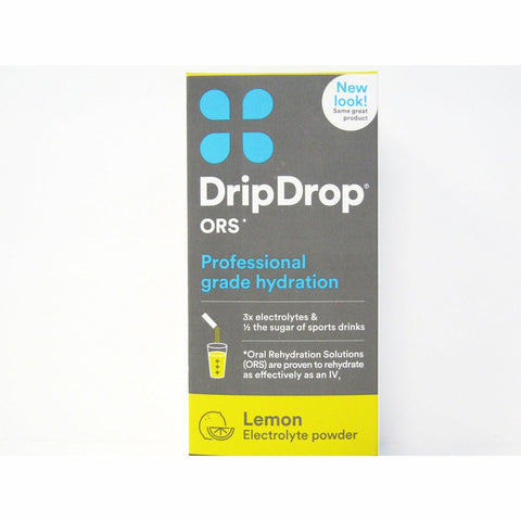 Drip Drop Oral Electrolyte Rehydration Solution Lemon Flavor 8-0.37 Oz Sticks (1 Pack) Supplement
