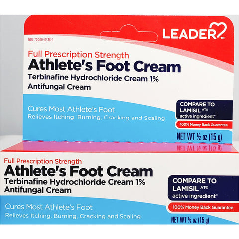 Leader Athlete's Foot Cream (Compare to Lamisil) 0.5 oz