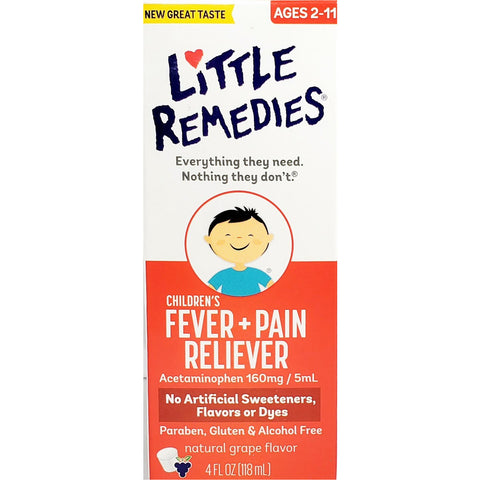 Little Remedies Childrens Pain & Fever (Natural Grape Flavor