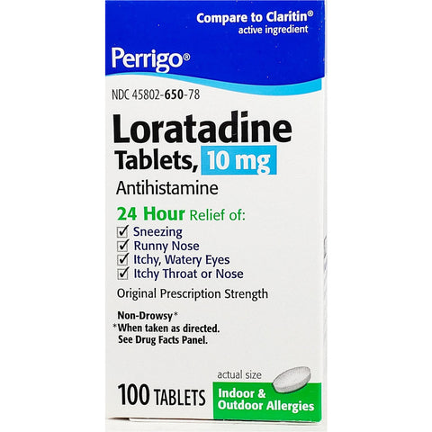 Loratadine by Perrigo, 10 mg 100 Tablets