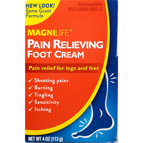 MagniLife Pain Relieving Foot Cream, 4 oz