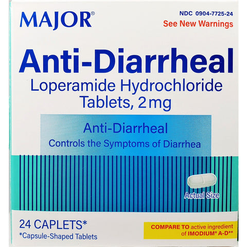 Major Anti-Diarrheal (Compare to Imodium A-D), 24 Caplets