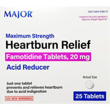 Major Heartburn Relief, Famotidine 20 mg (Compare to Pepcid AC) 25 Tablets