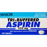 Tri-Buffered Aspirin by Major, 325 mg 100 Tablets
