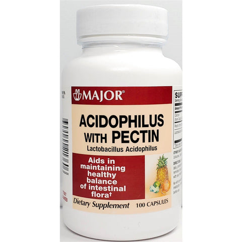 Major Acidophilus With Pectin, 100 Capsules