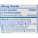 Major Banophen Allergy (Compare To Benadryl) 25 Mg 100 Capsules Each (1 Or 3 Pack) Asthma & Sinus