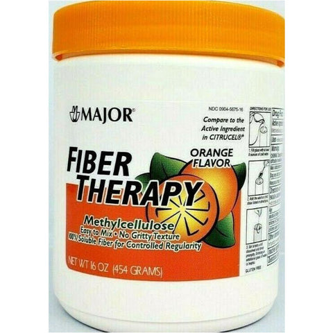 Major Fiber Therapy (Compare To Citrucel) 16 Oz Each (1 Or 3 Pack) 1 Pack Digestive Health