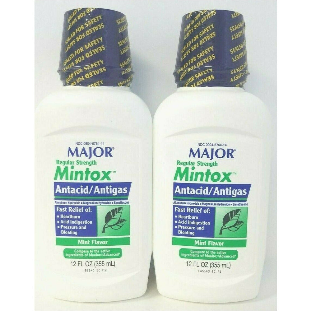 Major Mintox Regular Strength Antacid Antigas Mint Creme