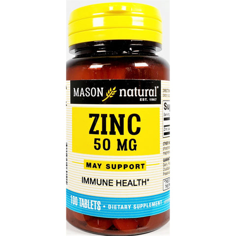 Mason Natural Zinc (Gluconate), 50 mg (Immune Support) 100 Tablets