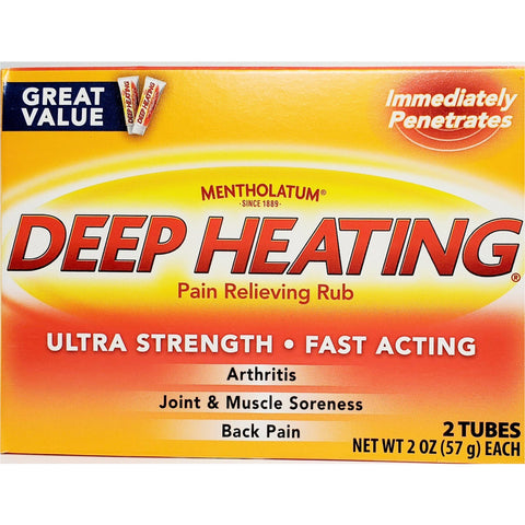 Mentholatum Deep Heating Pain Relieving Rub. Great Value!