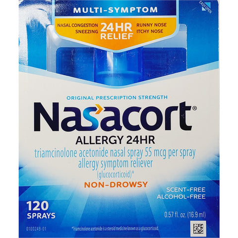 Nasacort Allergy 24 Hour, 0.57 fl oz (16.9 mL) 120 Sprays
