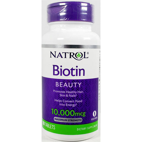 Natrol Biotin Beauty, 10000 mcg 100 Tablets