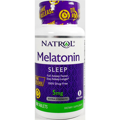 Natrol Melatonin Sleep (Time Release), 5 mg 100 Tablets