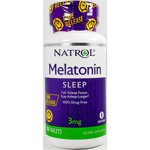 Natrol Melatonin, 3 mg (Time Release) 100 Tablets