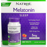 Natrol Melatonin Fast Dissolve 5 Mg 250 Tablets (1 Pack) Sleep Aids
