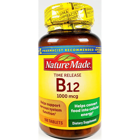 Nature Made Vitamin B12, 1000 mcg (Time Release) 160 Tablets