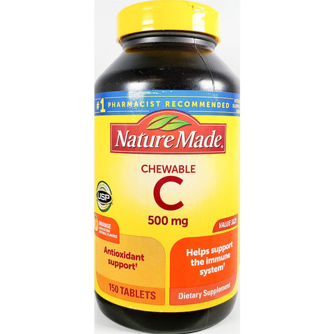 Nature Made Chewable Vitamin C, 500 mg (Immune Support) 150 Tablets