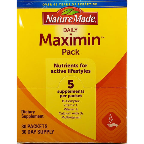Nature Made Daily Maximin Pack, 30 Packets