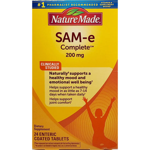 Nature Made SAM-e Complete, 200 mg 24 Enteric Coated Tablets